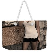 Concrete Velvet 9 Weekender Tote Bag by Donna Blackhall