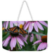 Cone Flowers And Monarch Butterfly Weekender Tote Bag
