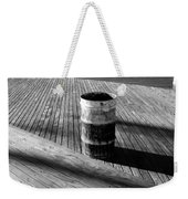 Coney Island Boardwalk In Black And White Weekender Tote Bag