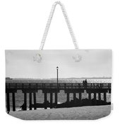 Coney Island Coast In Black And White Weekender Tote Bag