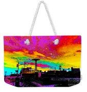 Coney Island In Neon B Flat Minor Weekender Tote Bag
