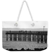 Coney Island Pier In Black And White Weekender Tote Bag