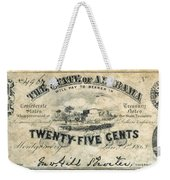 Confedrate Currency Weekender Tote Bag