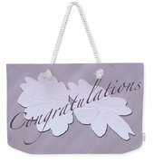 Congratulations Greeting Card - New Guinea Impatiens Weekender Tote Bag