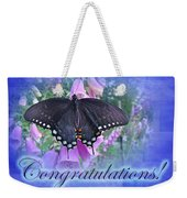 Congratulations Greeting Card - Spicebush Swallowtail Butterfly Weekender Tote Bag