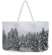 Coniferous Forest In Winter, Alps Weekender Tote Bag by Konrad Wothe