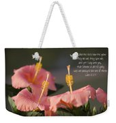 Consider The Lilies How They Grow Weekender Tote Bag