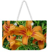 Consider The Lilies Of  The Field - Hemerocallis Fulva Weekender Tote Bag