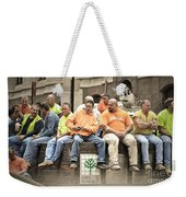Construction Workers One World Trade Center Weekender Tote Bag