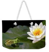 Contemplating A Lily Weekender Tote Bag