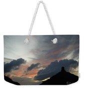 Contrasting Skies Weekender Tote Bag