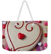 Cookie And Candy Hearts Weekender Tote Bag by Garry Gay