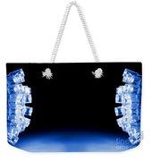 Cool Blue Led Lights Both Sides Weekender Tote Bag