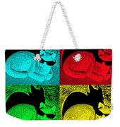 Cool Cat Pop Art Weekender Tote Bag