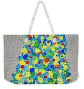 Cool Crazy Pear Abstract Painting Weekender Tote Bag