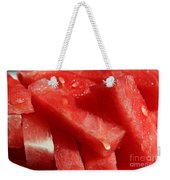 Cool Watermelon Wedges Weekender Tote Bag by Barbara Griffin