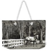 Coosaw - Outside The Fence Black And Wite Weekender Tote Bag