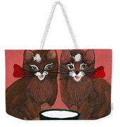 Copper Kitty Weekender Tote Bag