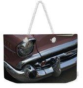 Coral Chevy Halftone Weekender Tote Bag