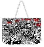 Coral Reacts To Human Touch.. It Dies Weekender Tote Bag