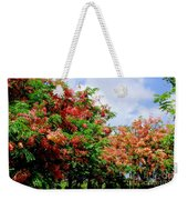 Coral Shower Trees Weekender Tote Bag