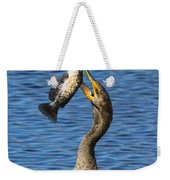 Cormorant Catches Catfish Weekender Tote Bag