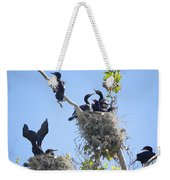 Cormorants Nesting Weekender Tote Bag