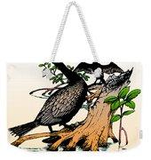 Cormorants On Mangrove Stumps Filtered Weekender Tote Bag