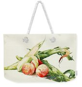 Corn And Peaches Weekender Tote Bag