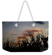 Corn Field With Orange Clouds Weekender Tote Bag