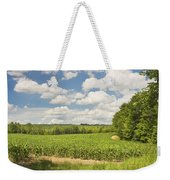 Corn Growing In Maine Farm Field Weekender Tote Bag