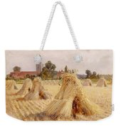 Corn Stooks By Bray Church Weekender Tote Bag by Heywood Hardy