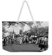 Corner Club 4 Black And White-mardi Gras Weekender Tote Bag