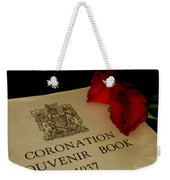 Coronation Book With Roses Weekender Tote Bag