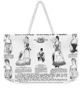 Corset Advertisement, 1892 Weekender Tote Bag