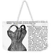 Corset Advertisement, 1895 Weekender Tote Bag
