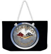 Corvette Name Plate Weekender Tote Bag