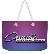 Corvette Sting Ray Emblem Weekender Tote Bag
