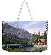 Crossing Emerald Lake Bridge - Yoho Nat. Park, Canada Weekender Tote Bag