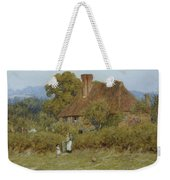 Cottage At Broadham Green Surrey In Sunset Light Weekender Tote Bag
