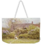 Cottage Freshwater Isle Of Wight Weekender Tote Bag by Helen Allingham