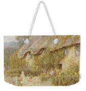 Cottage Near Wells Somerset Weekender Tote Bag by Helen Allingham