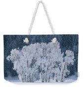 Cottonwood Trees With Frost Weekender Tote Bag
