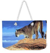 Cougar In The Sky Weekender Tote Bag
