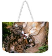 Cougar Mom Cleans Youngster Weekender Tote Bag