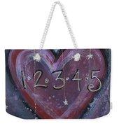 Counting Heart Weekender Tote Bag