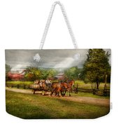 Country - Horse - Life's Pleasures Weekender Tote Bag