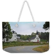Country Church In Texture Weekender Tote Bag