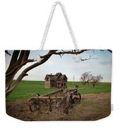 Country Home And Wagon Weekender Tote Bag by Athena Mckinzie