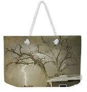 Country Horses Lightning Storm Ne Boulder Co 66v Bw Art Weekender Tote Bag